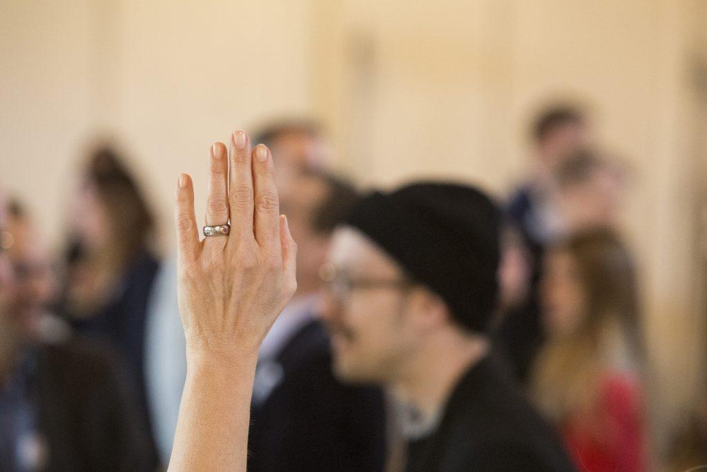 hand raised annual meeting futureofleadership