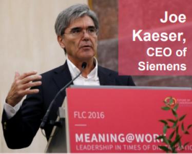 CEO of SIEMENS Joe Kaeser